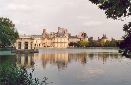 Fontainebleau palace and is park